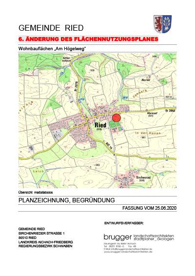 6. Flächennutzungsplanänderung 1. Änderung Högelweg