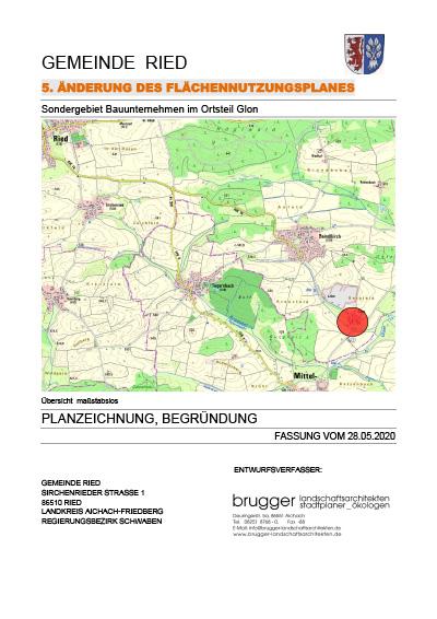 5. Änderung des Flächennutzungsplanes zur Aufstellung des vorhabenbezogenen Bebauungsplanes Nr. 33